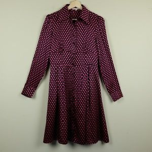 Nanette Lepore Faye Dunaway Silk Dress Shirt